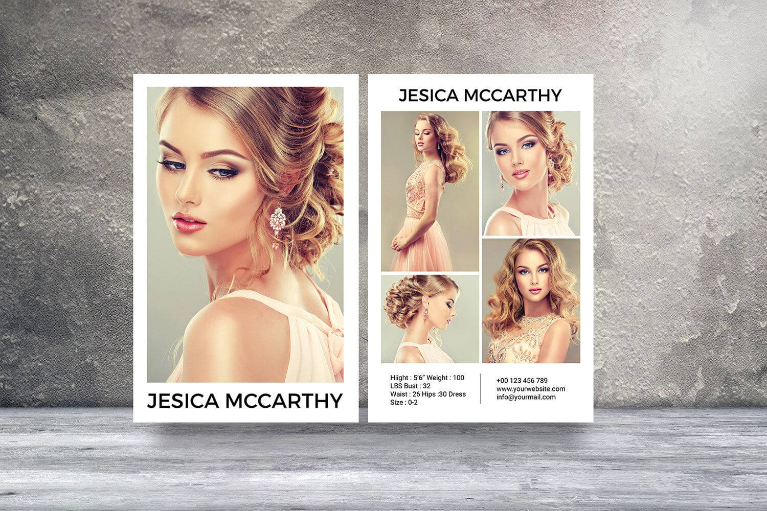 Modeling Comp Card | Fashion Model Comp Card Template Within Comp Card Template Download