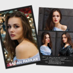 Modeling Comp Card | Model Agency Zed Card | Photoshop Inside Zed Card Template