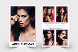Modeling Comp Card | Model Agency Zed Card | Photoshop & Ms in Zed Card Template