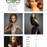 Modeling Comp Card Template. Designing Women Fash235. Model With Comp Card Template Download