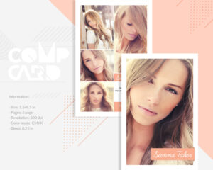 Modeling Comp Card Template | Model Agency Zed Card | Photoshop, Elements &  Ms Word Template | Instant Download | Mc-12 within Zed Card Template