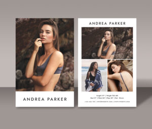 Modeling Comp Card Template, Model Comp Card Template, Fashion Model Card,  Photoshop Psd And Ms Word Templates, Fashion Model Photography inside Comp Card Template Psd