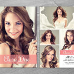 Modeling Comp Card Template-V247Template Shop On in Zed Card Template