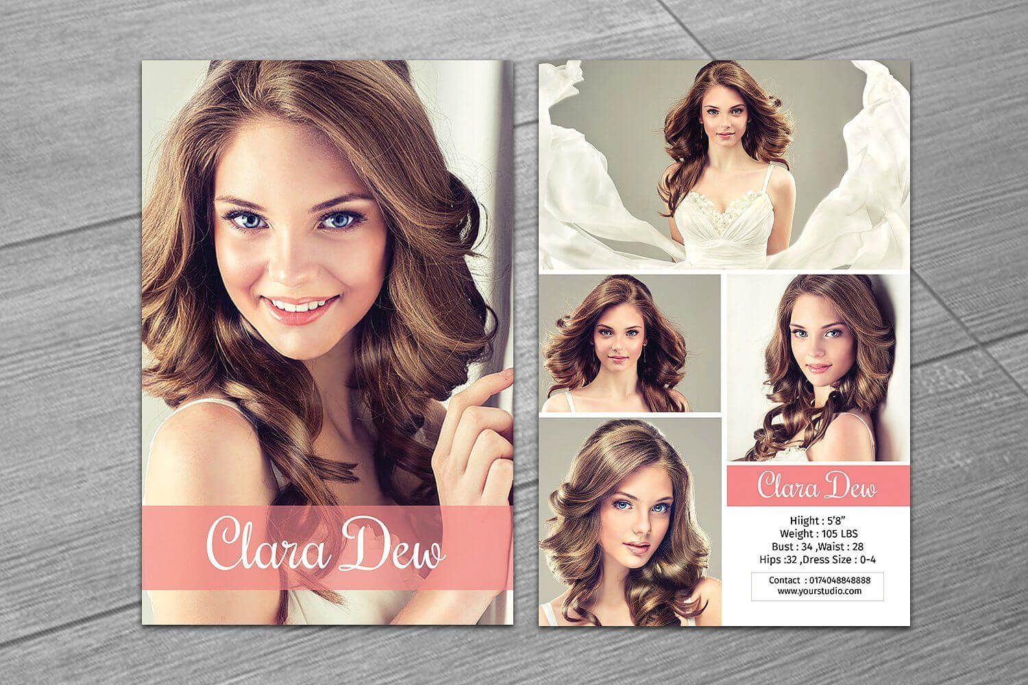 Modeling Comp Card Template V247Template Shop On Intended For Zed Card Template Free