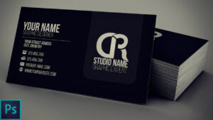 Modern Black Business Card + Psd — Photoshop Tutorial pertaining to Visiting Card Templates For Photoshop