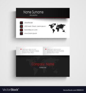 Modern Black White Business Card Template intended for Black And White Business Cards Templates Free