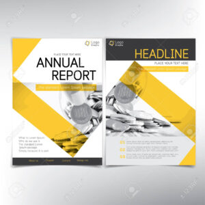 Modern Business And Financial Cover Page, Vector Template – Can.. for Cover Page For Annual Report Template