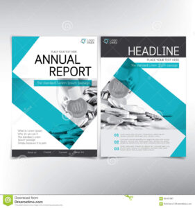 Modern Business And Financial Cover Page, Vector Template throughout Cover Page For Annual Report Template