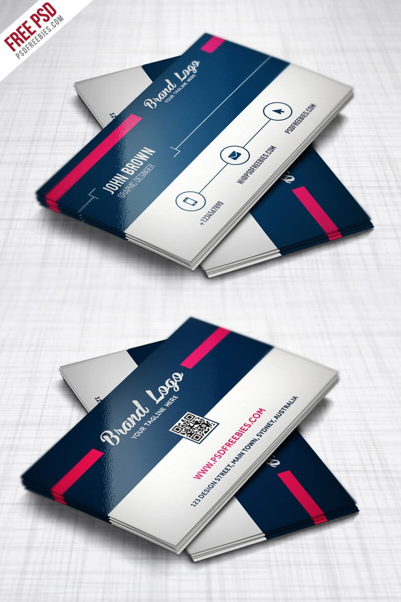 Modern Business Card Design Template Free Psd | Business For Unique Business Card Templates Free