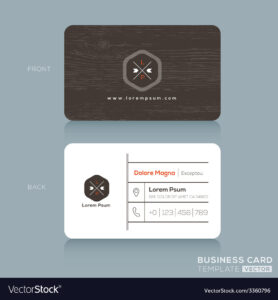 Modern Business Card Design Template intended for Modern Business Card Design Templates