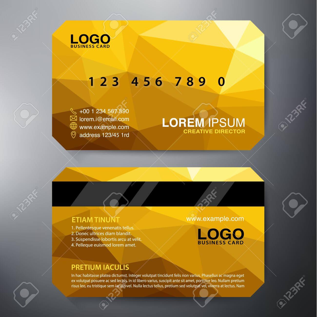 Modern Business Card Design Template. Vector Illustration With Modern Business Card Design Templates