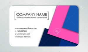 Modern Business Card Template. Business Cards With Company Logo in Buisness Card Template