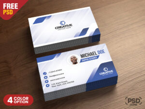 Modern Business Cards Design Psd – Psd Zone in Psd Visiting Card Templates