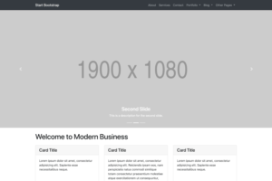 Modern Business – Full Website Template For Bootstrap 4 pertaining to Blank Html Templates Free Download