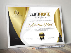 Modern Certificate | Certificates | Certificate Design intended for Professional Award Certificate Template