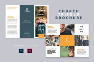 Modern Church Trifold Brochure – Brochures | Design: Graphic in Welcome Brochure Template