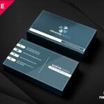 Modern Corporate Business Card Template | Psddaddy Pertaining To Unique Business Card Templates Free
