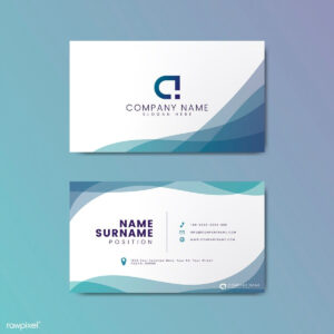 Modern Geometric Business Card Design | Free Image regarding Calling Card Free Template