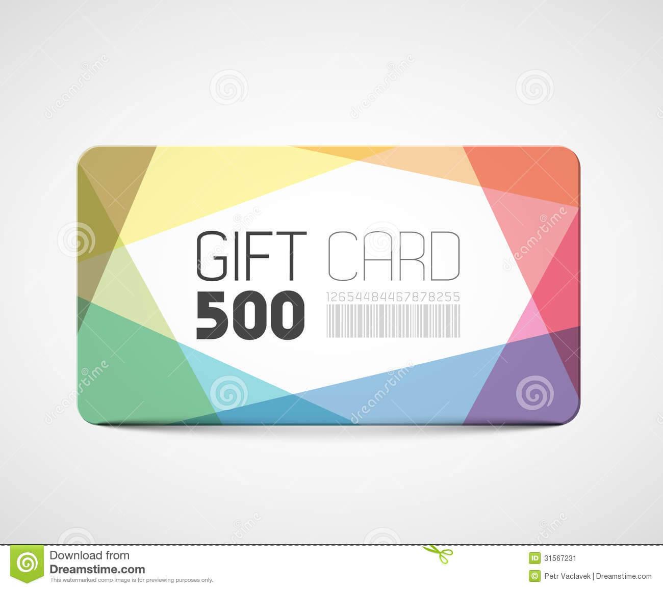 Modern Gift Card Template Stock Vector. Illustration Of Throughout Gift Card Template Illustrator