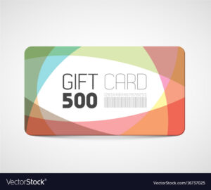 Modern Gift Card Template Vector Image On Vectorstock with Gift Card Template Illustrator