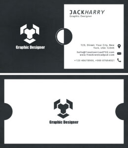 Modern Graphic Designer Business Card Psd Template pertaining to Business Card Maker Template