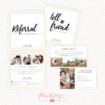 Modern Hand Lettering Referral Card Set – Strawberry Kit In Referral Card Template Free