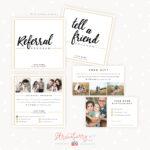 Modern Hand Lettering Referral Card Set – Strawberry Kit Inside Referral Card Template