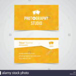 Modern Light Business Card Template For Photography Studio Within Photographer Id Card Template