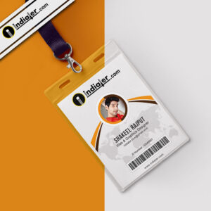 Modern Office Identity Card Free Psd Template – Indiater with College Id Card Template Psd