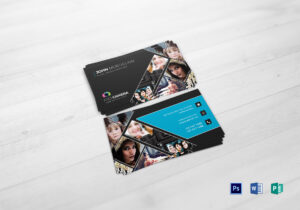 Modern Photography Business Card Template within Photography Business Card Template Photoshop