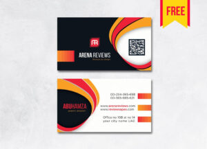 Modern Professional Business Card – Free Download | Arenareviews with regard to Professional Business Card Templates Free Download