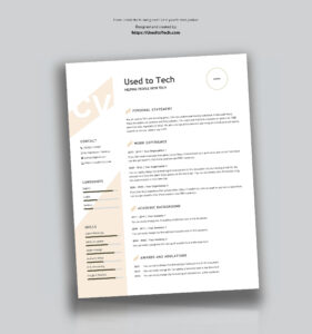 Modern Resume Template In Word Free – Used To Tech regarding How To Find A Resume Template On Word