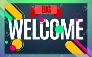 Modern Style Welcome Banner Color Design. Vector Illustration.. with regard to Welcome Banner Template