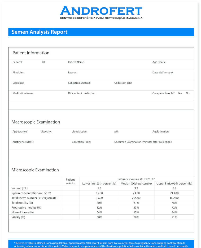 Modifi Ed Semen Analysis Report Template. The Main For Failure Investigation Report Template
