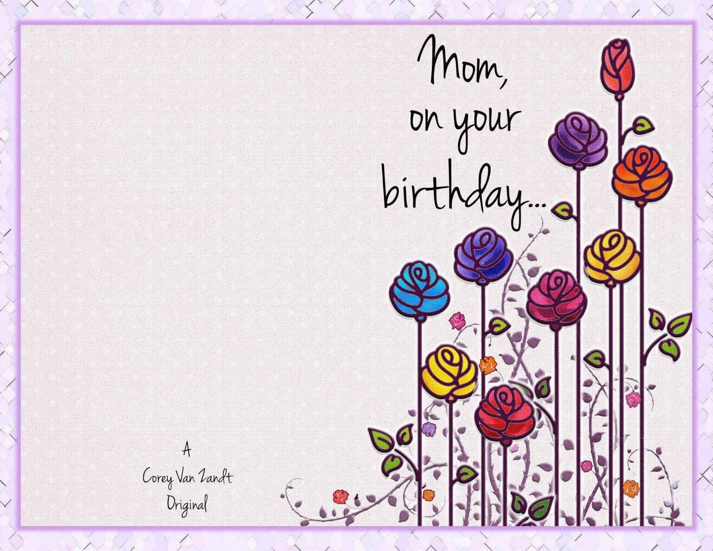 Mom Birthday Card Template | Theveliger With Regard To Mom Birthday Card Template