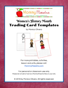 Mommy Maestra: Free Download: Women In World History Trading with Free Trading Card Template Download