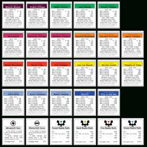 Monopoly Properties Zelda| Monopoly Games In 2019 in Monopoly Property Cards Template
