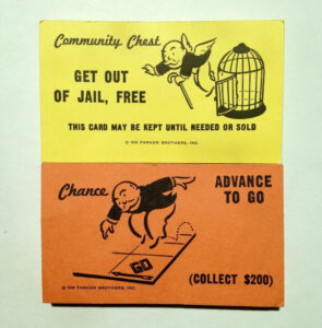 Monopoly Replacement Chance & Community Chest Cards Full Set inside Get Out Of Jail Free Card Template