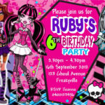 Monster High Birthday Cards Uk Unique Free Printable Monster Pertaining To Monster High Birthday Card Template