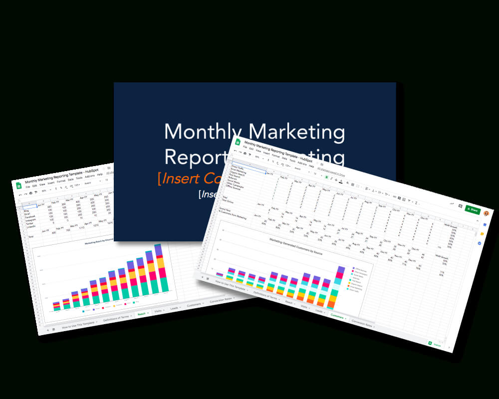 Monthly Marketing Reporting Templates – Free Download Inside Marketing Weekly Report Template