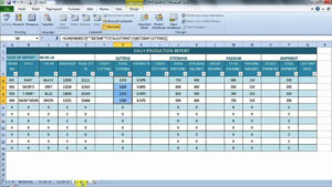Monthly Production Report Template Format Excel Cost intended for Production Status Report Template