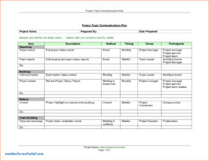 Monthly Status Report Template Roject Management Inside Monthly Status Report Template
