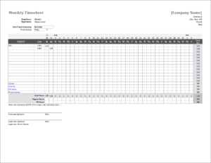 Monthly Timesheet Template For Excel And Google Sheets Intended For Expense Report Template Excel 2010