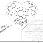 Mothers Day Card With Heart Pop Up Template – Coloring Page Inside Pop Out Heart Card Template