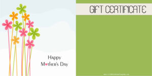 Mother's Day Gift Certificate Templates in Spa Day Gift Certificate Template