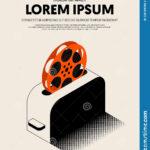 Movie And Film Festival Poster Template Design Modern Retro For Film Festival Brochure Template