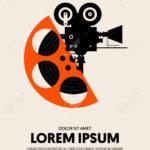 Movie And Film Festival Poster Template Design Modern Retro Vintage.. Intended For Film Festival Brochure Template