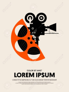 Movie And Film Festival Poster Template Design Modern Retro Vintage.. intended for Film Festival Brochure Template