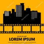 Movie Film Festival Poster Template Design Modern Retro Throughout Film Festival Brochure Template
