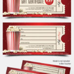 Movie Gift Certificate Psd Printable with regard to Movie Gift Certificate Template